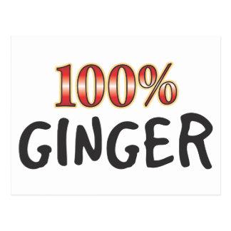 Ginger 100 Percent Postcard