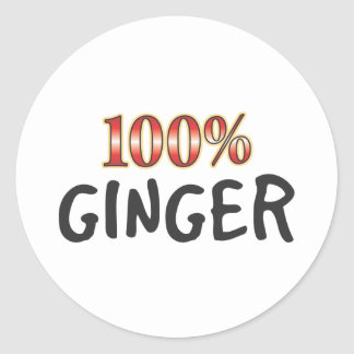 Ginger 100 Percent Round Stickers