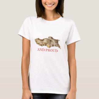 Ginger and proud vintage illustration tshirt