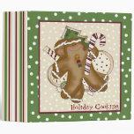 Ginger Bread Man Holiday Recipe Binder