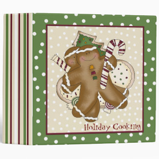 Ginger Bread Man Holiday Recipe Binder