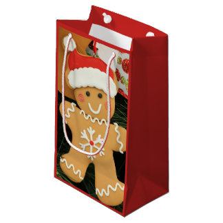 Ginger bread small gift bag