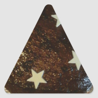 Ginger cake triangle sticker