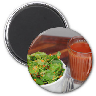 Ginger Carrot Tomato Dressing Watercress Salad 2 Inch Round Magnet