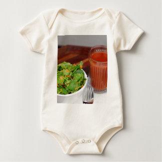 Ginger Carrot Tomato Dressing Watercress Salad Baby Bodysuit