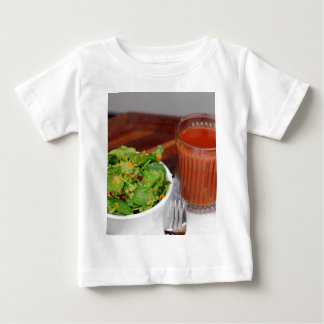 Ginger Carrot Tomato Dressing Watercress Salad Baby T-Shirt