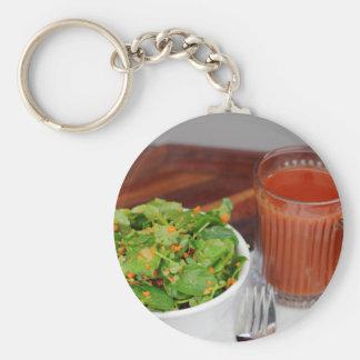 Ginger Carrot Tomato Dressing Watercress Salad Basic Round Button Keychain