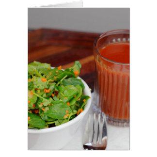 Ginger Carrot Tomato Dressing Watercress Salad Card
