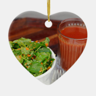 Ginger Carrot Tomato Dressing Watercress Salad Ceramic Ornament