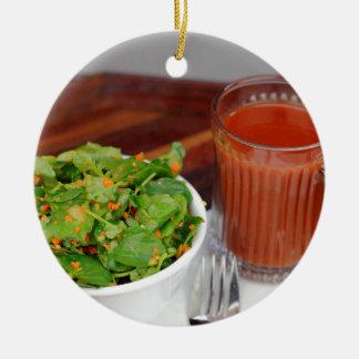 Ginger Carrot Tomato Dressing Watercress Salad Ceramic Ornament
