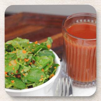 Ginger Carrot Tomato Dressing Watercress Salad Coaster