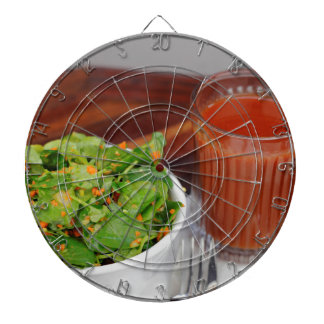 Ginger Carrot Tomato Dressing Watercress Salad Dartboard