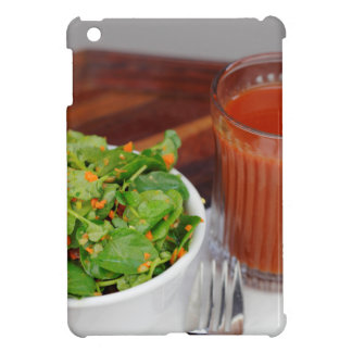 Ginger Carrot Tomato Dressing Watercress Salad iPad Mini Cover