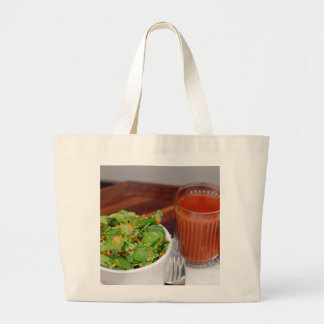 Ginger Carrot Tomato Dressing Watercress Salad Large Tote Bag