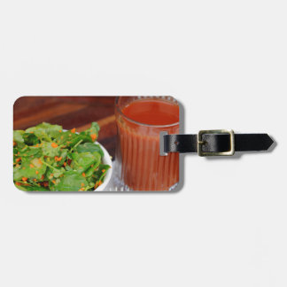 Ginger Carrot Tomato Dressing Watercress Salad Luggage Tag