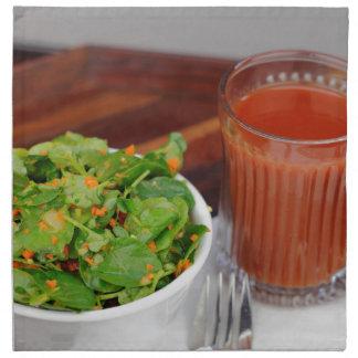 Ginger Carrot Tomato Dressing Watercress Salad Napkin