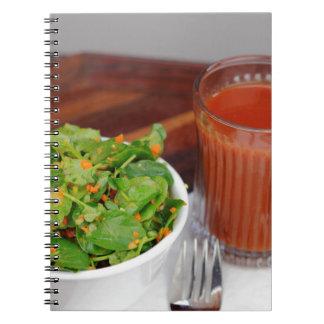 Ginger Carrot Tomato Dressing Watercress Salad Notebook