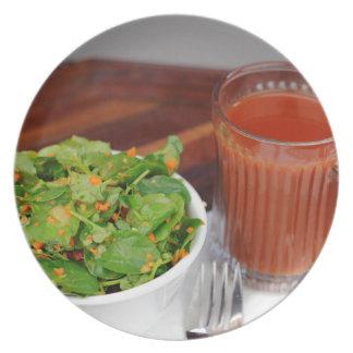Ginger Carrot Tomato Dressing Watercress Salad Plate