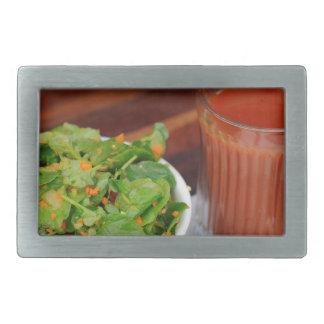 Ginger Carrot Tomato Dressing Watercress Salad Rectangular Belt Buckle