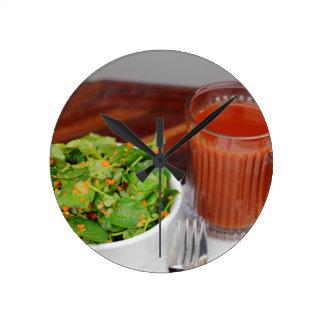 Ginger Carrot Tomato Dressing Watercress Salad Round Clock