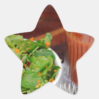 Ginger Carrot Tomato Dressing Watercress Salad Star Sticker