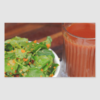 Ginger Carrot Tomato Dressing Watercress Salad Sticker