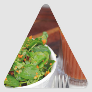 Ginger Carrot Tomato Dressing Watercress Salad Triangle Sticker