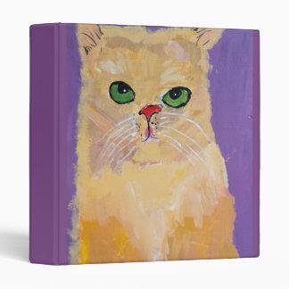 Ginger Cat 3-ring binder
