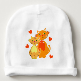 Ginger Cat and Kitten Super Cute Baby Beanie