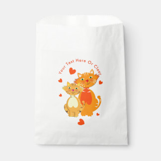 Ginger Cat and Kitten Super Cute Favour Bag