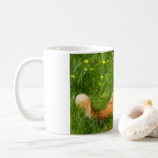 Ginger Cat In The Springtime Coffee Mug