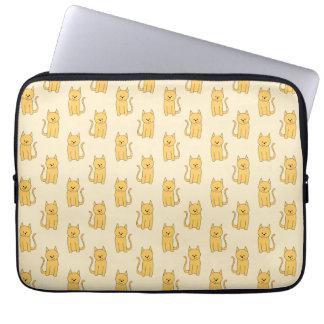 Ginger Cat Pattern. Laptop Sleeve