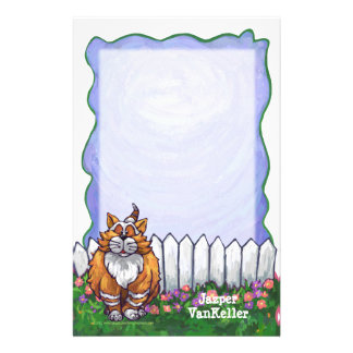 Ginger Cat Personalized Stationery