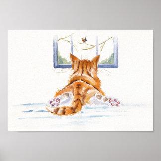 "Ginger Cats / kittens: ""Window Shopping"" Poster"