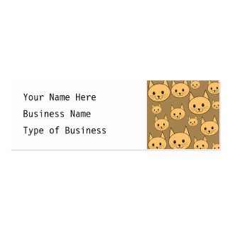Ginger Cats Pattern on Brown. Double-Sided Mini Business Cards (Pack Of 20)