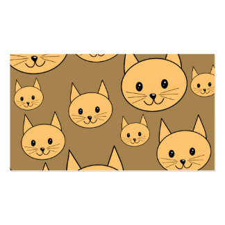 Ginger Cats Pattern on Brown. Business Card Templates