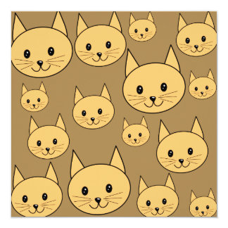 Ginger Cats Pattern on Brown. Announcement