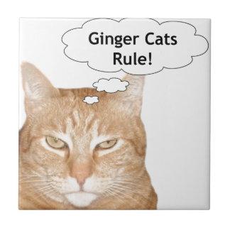 Ginger Cats Rule Tile
