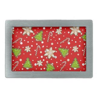 Ginger cookies Christmas pattern Belt Buckle