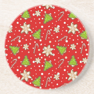 Ginger cookies Christmas pattern Coaster