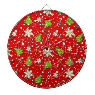 Ginger cookies Christmas pattern Dartboard