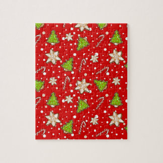 Ginger cookies Christmas pattern Jigsaw Puzzle