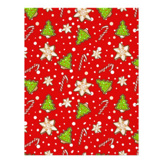 Ginger cookies Christmas pattern Letterhead