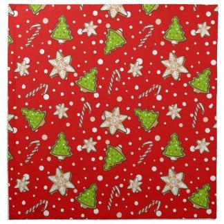 Ginger cookies Christmas pattern Napkin