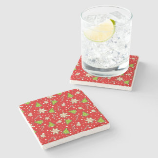 Ginger cookies Christmas pattern Stone Coaster