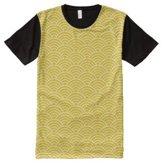 Ginger Fish Scales All-Over-Print T-Shirt