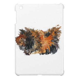 Ginger Fluffy Guinea Pig Watercolour Painting iPad Mini Cover