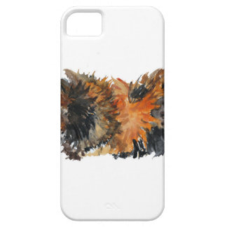 Ginger Fluffy Guinea Pig Watercolour Painting iPhone 5 Covers