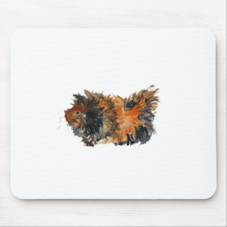 Ginger Fluffy Guinea Pig Watercolour Painting Mouse Pad
