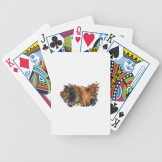 Ginger Fluffy Guinea Pig Watercolour Painting Poker Deck